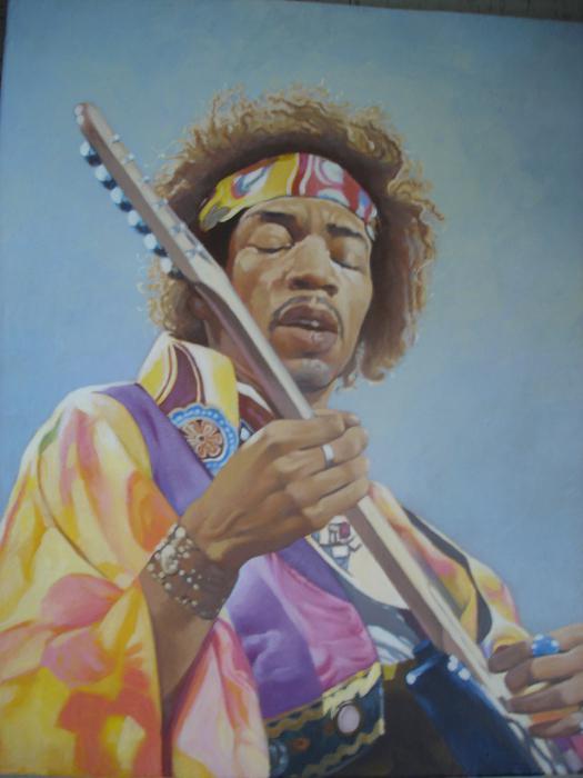 Jimi Hendrix by ceceach